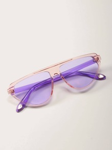 Sunglass | Clear | Frame | Flat | Case | Top