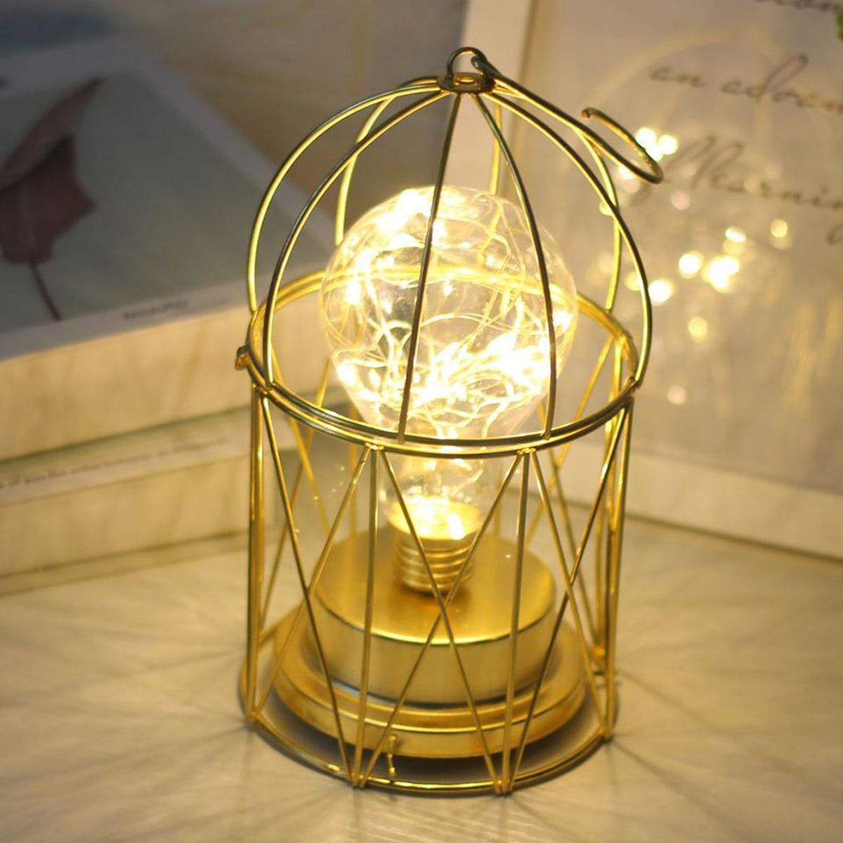1pc Birdcage-vormige ijzeren nachtlampje