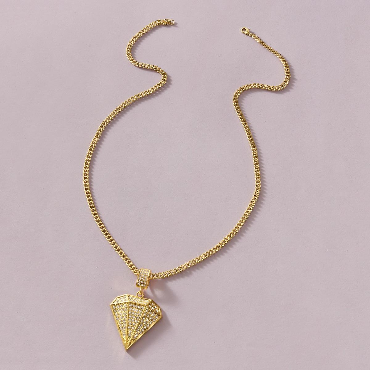 Мужское ожерелье со стразами 1шт от SHEIN