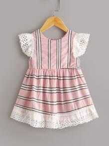 Babydoll   Toddler   Stripe   Dress   Girl