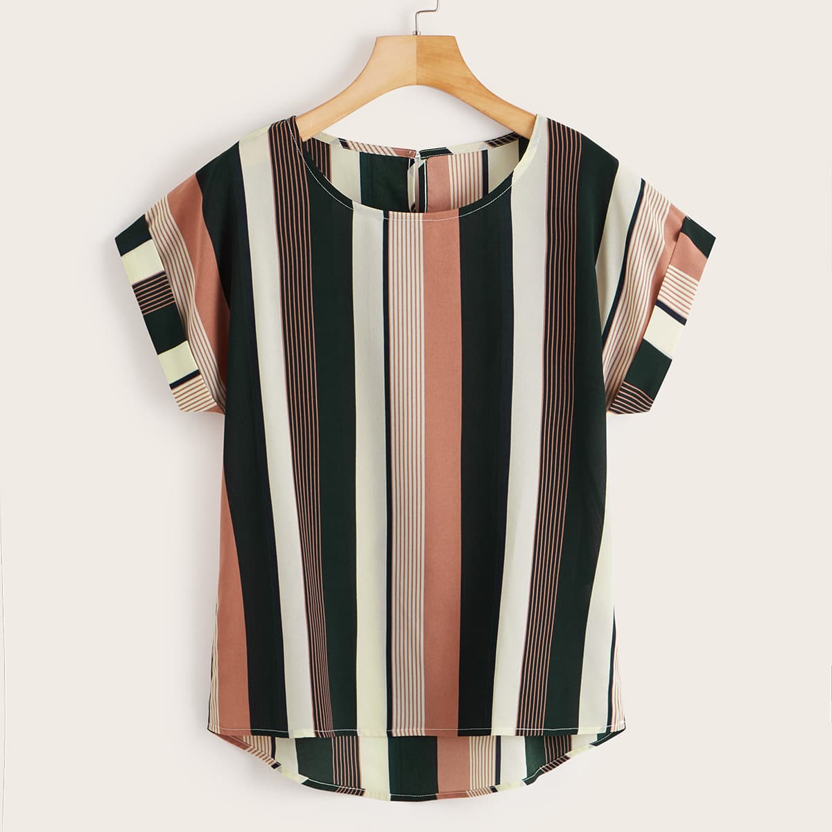 Полосатая блузка размера плюс фото