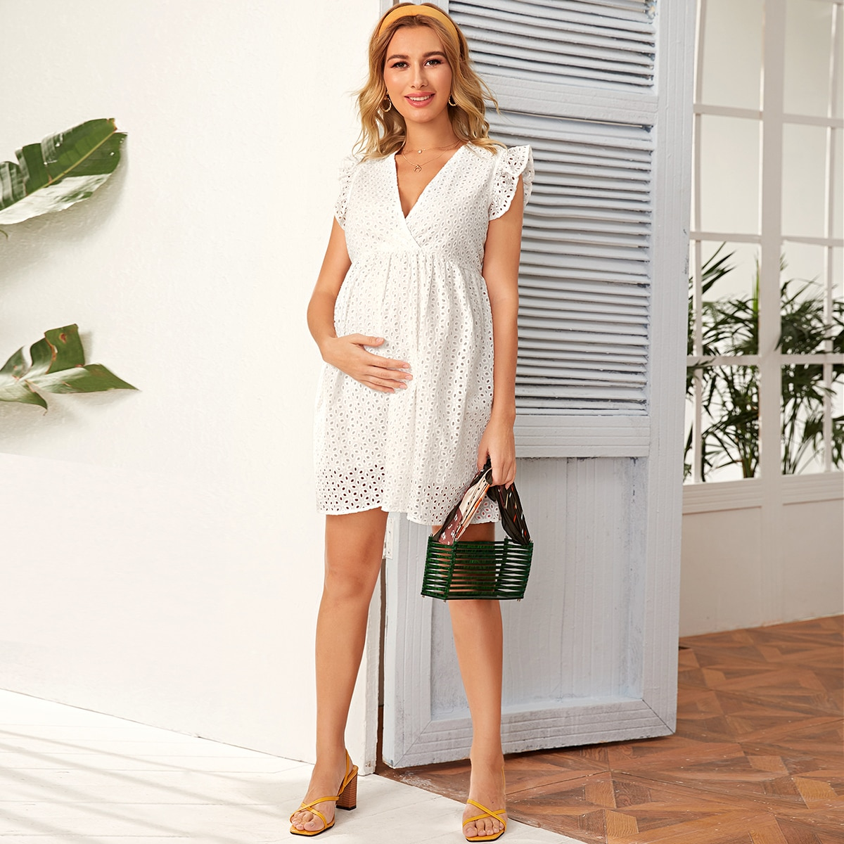 Maternity Платье с оборками от SHEIN