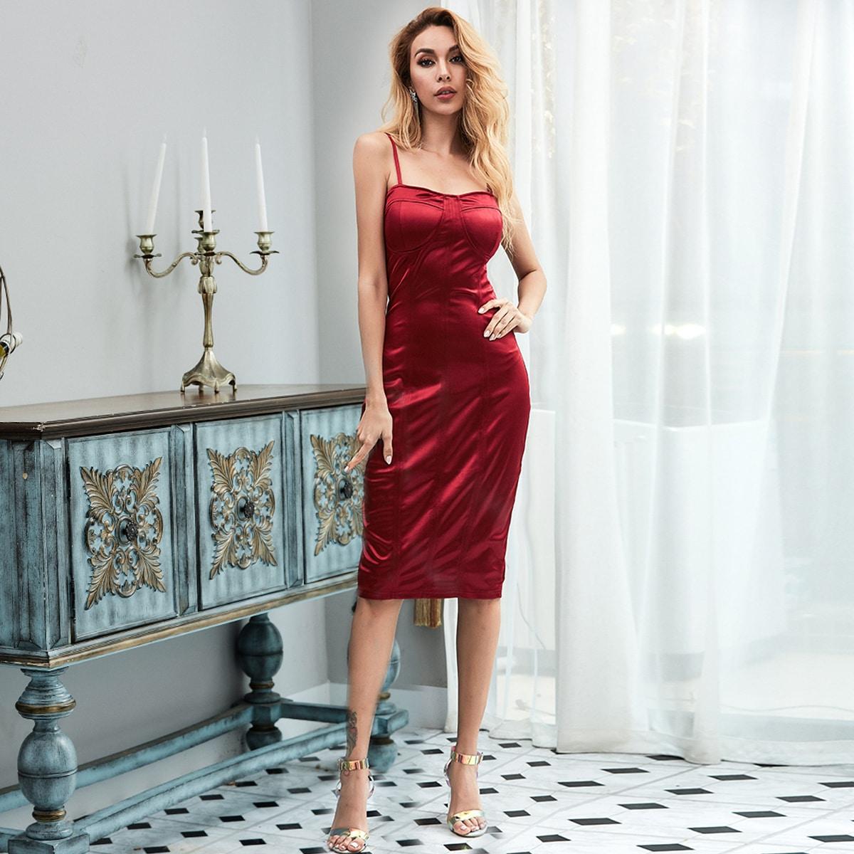 Missord Атласное платье на бретелях