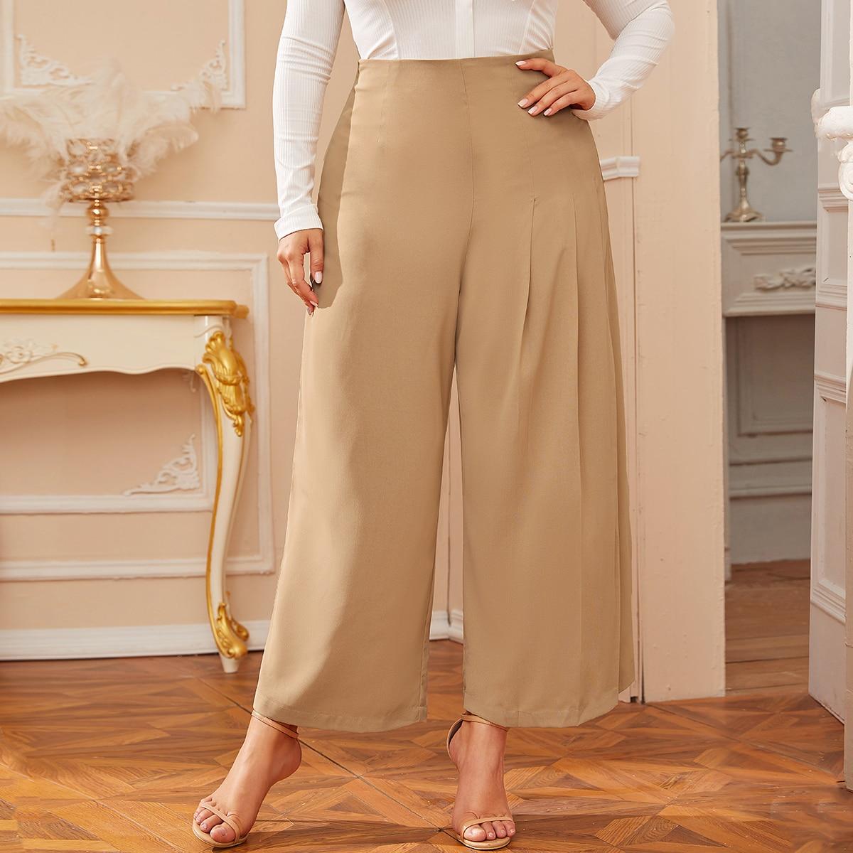 Широкие брюки размера плюс фото