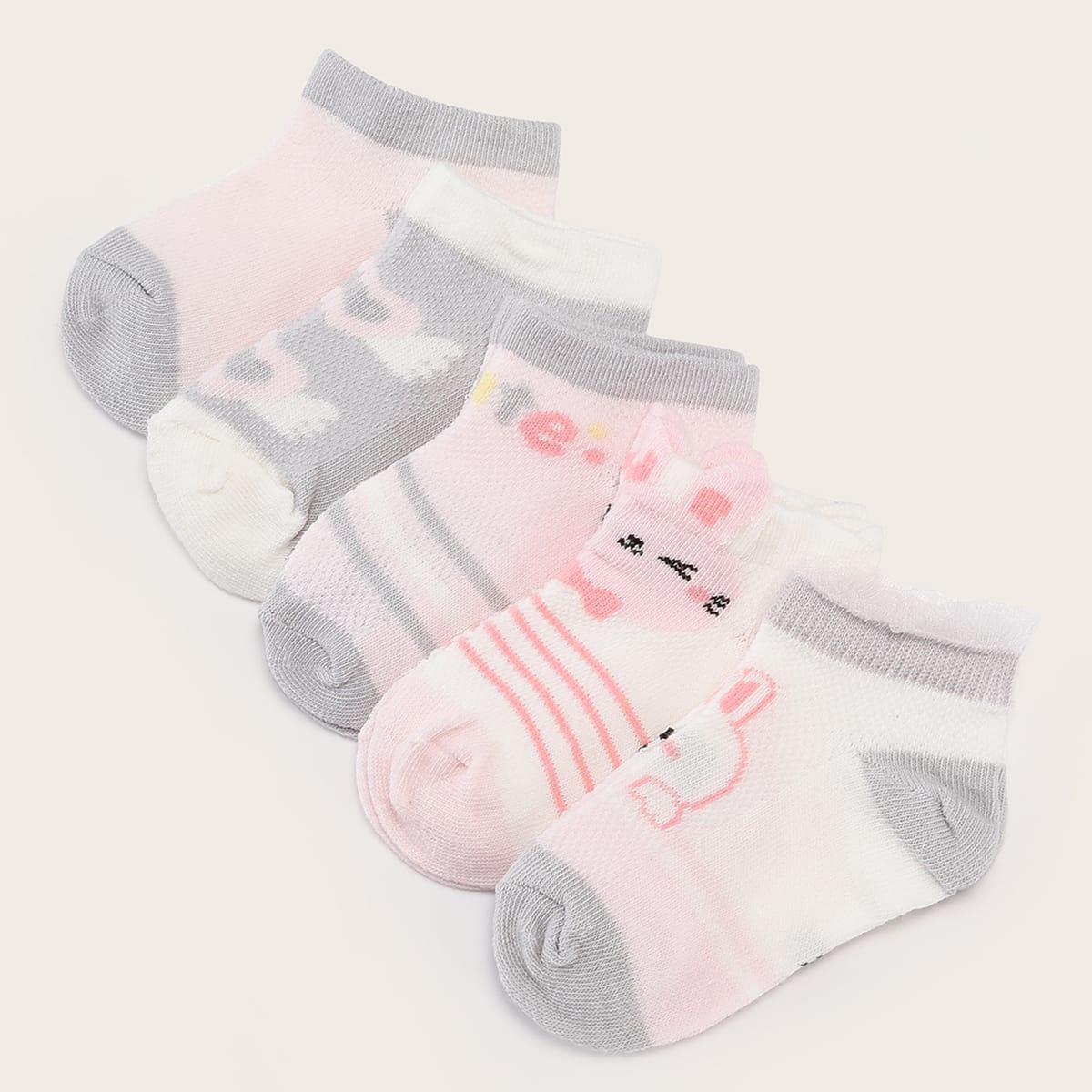 Детские носки с мультяшным принтом