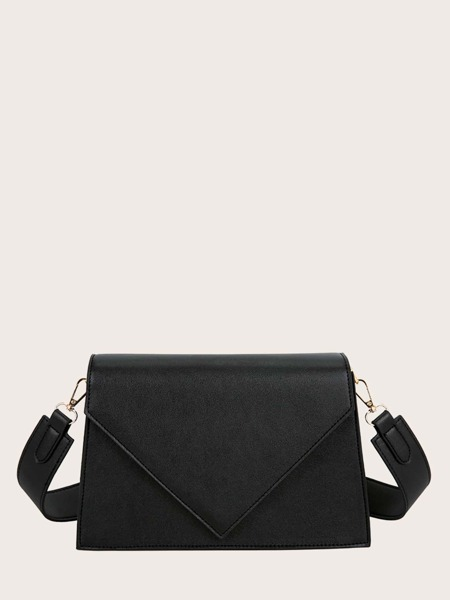 Flap Trapezoid Crossbody Bag