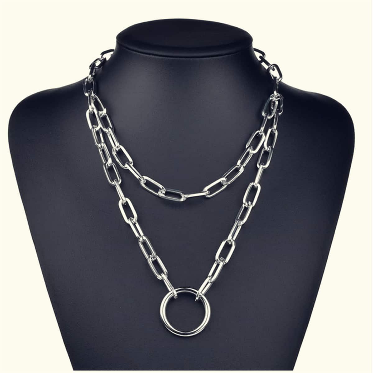 Серебряные Повседневный Мужские цепочки от SHEIN