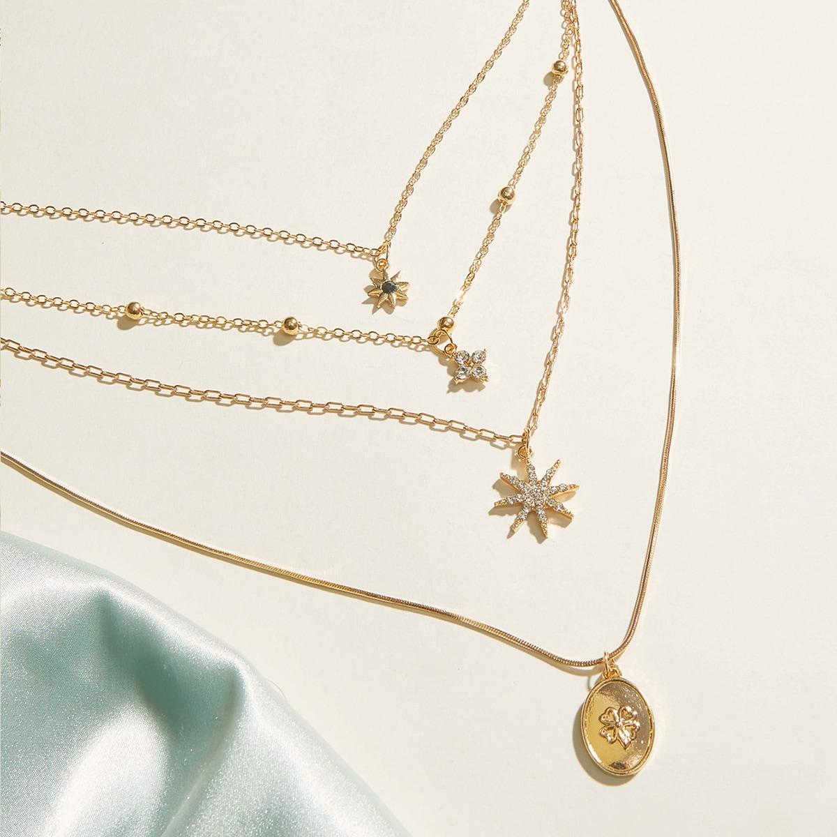 Ожерелье с подвеской звезды фото