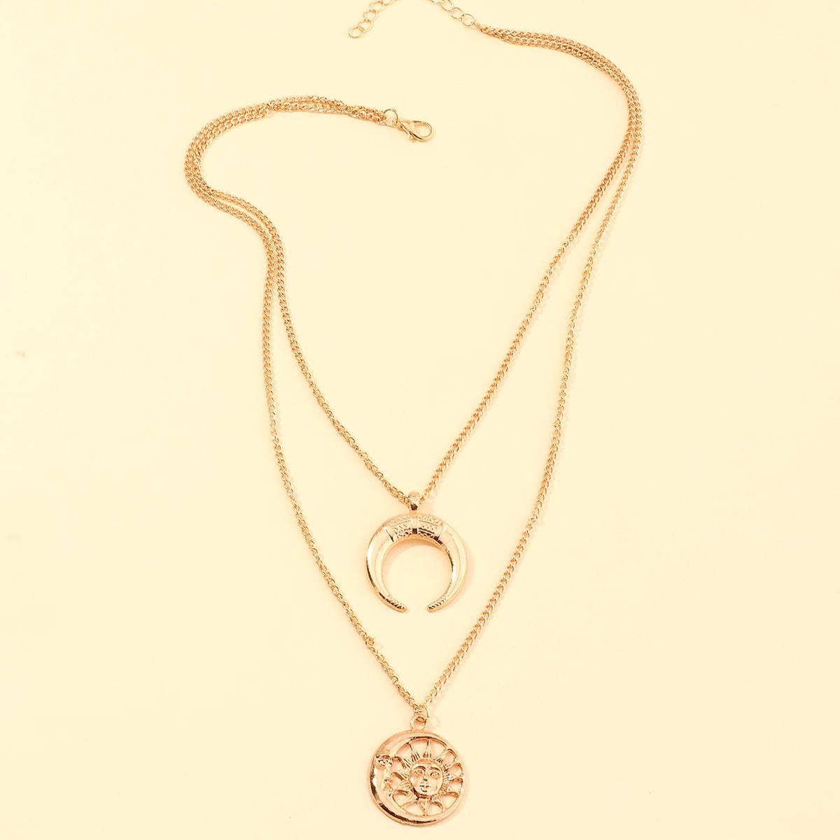 Ожерелье с подвеской луны фото