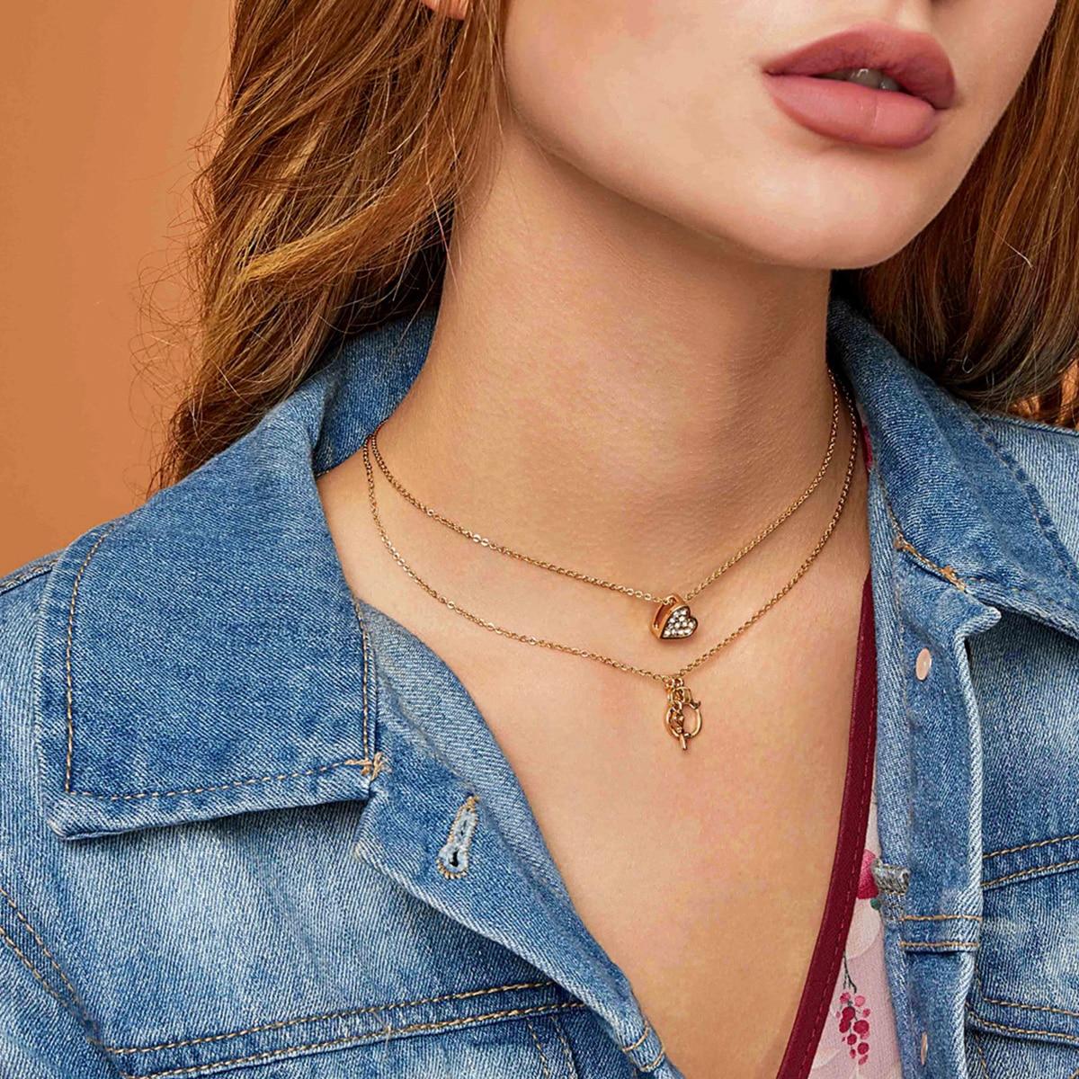 Ожерелье с подвеской сердечка фото