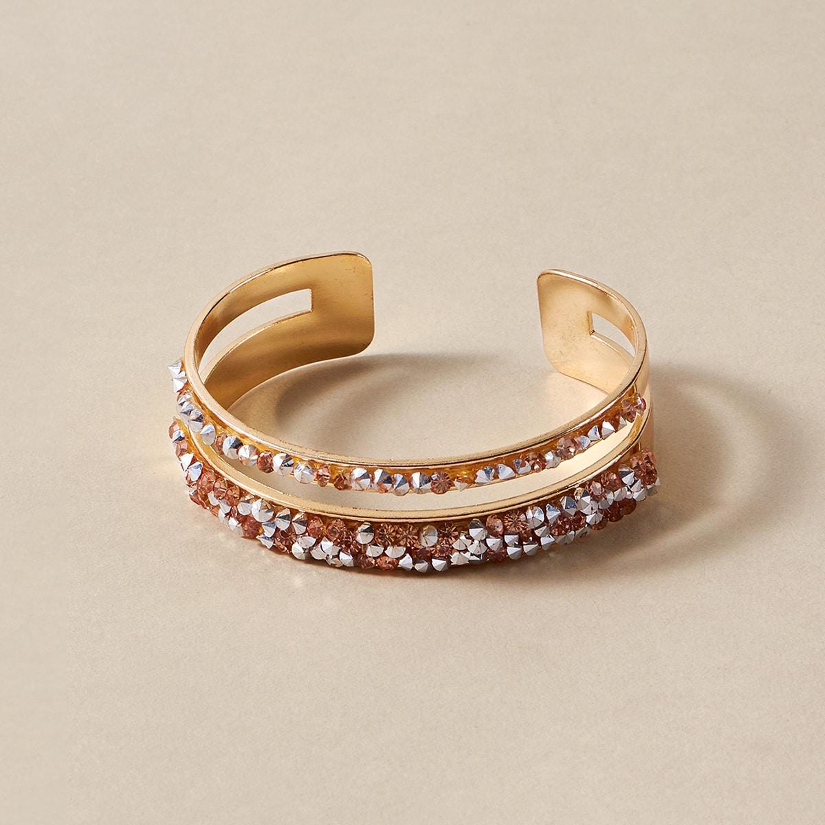 Открытое кольцо со стразами фото