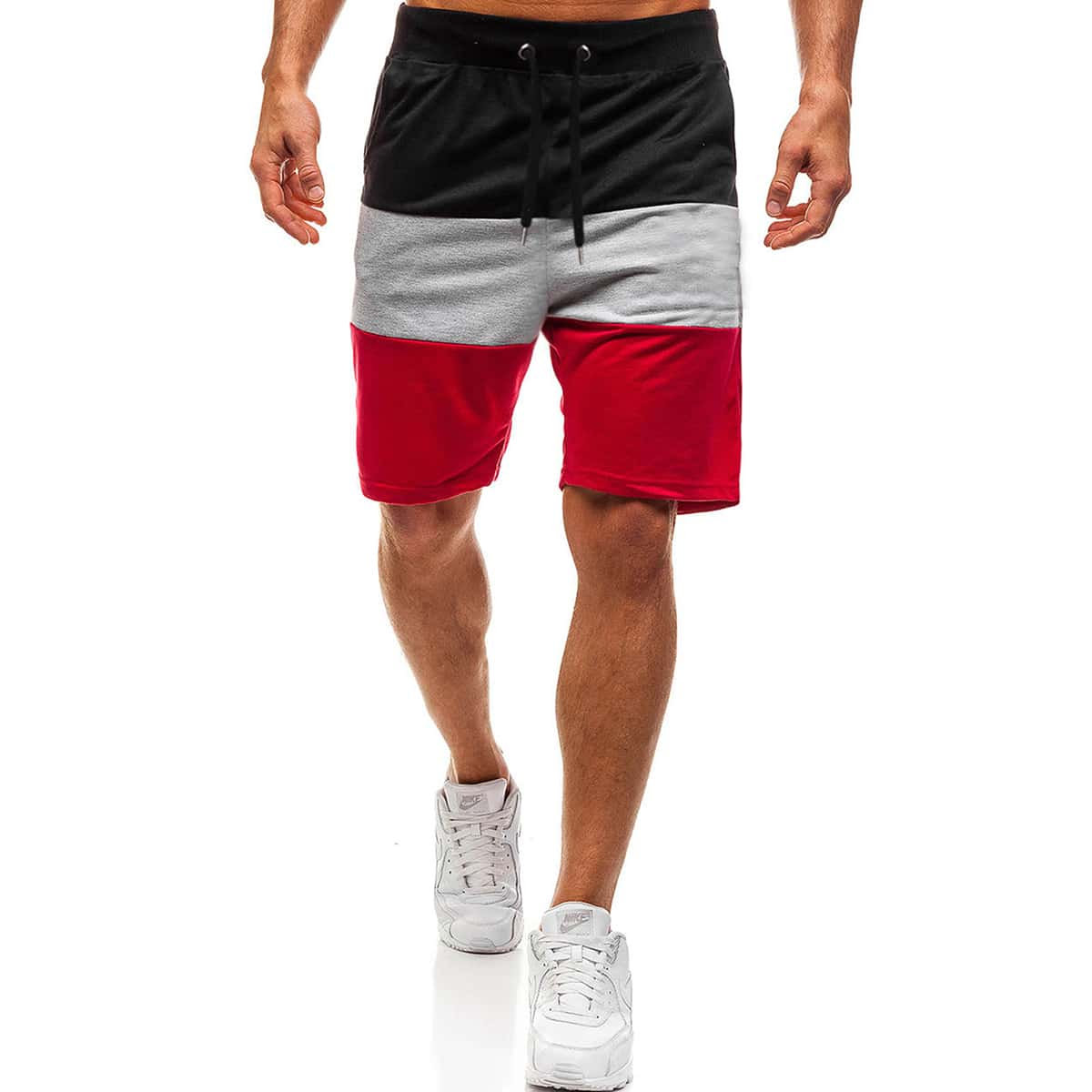 Мужские контрастные шорты фото