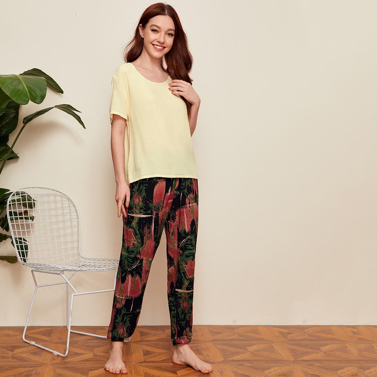 Разноцветная пижама с узлом фото