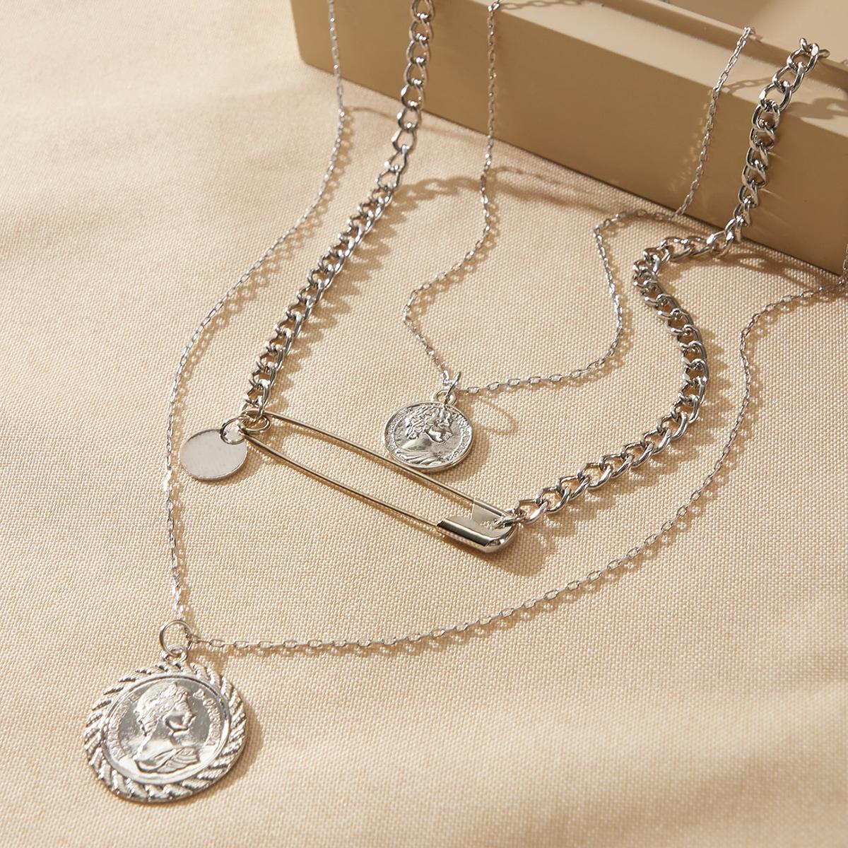 Многоуровневое ожерелье с подвеской от SHEIN