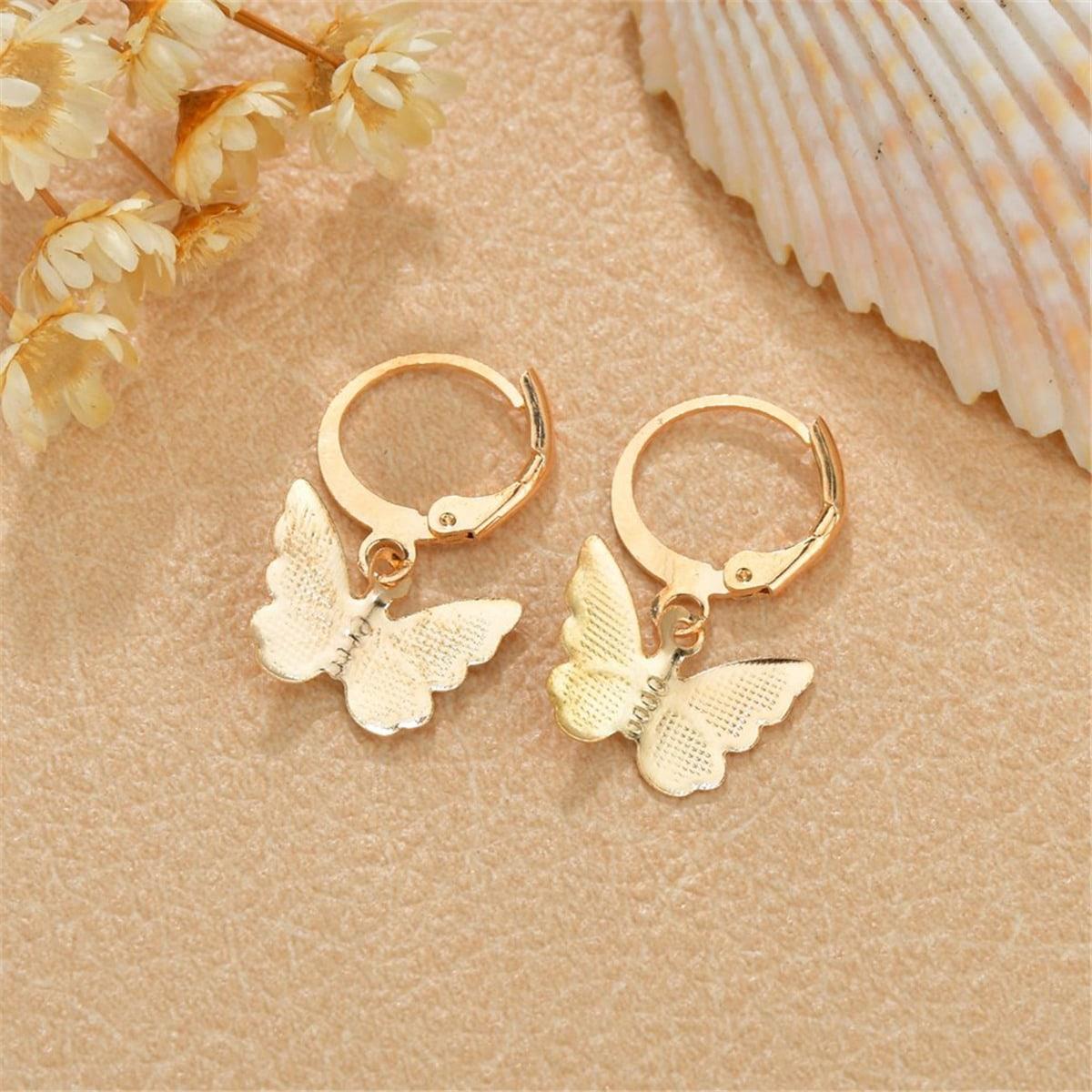 Серьги-бабочки фото