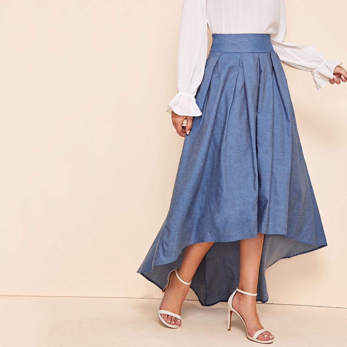 Асимметричная юбка со складками фото