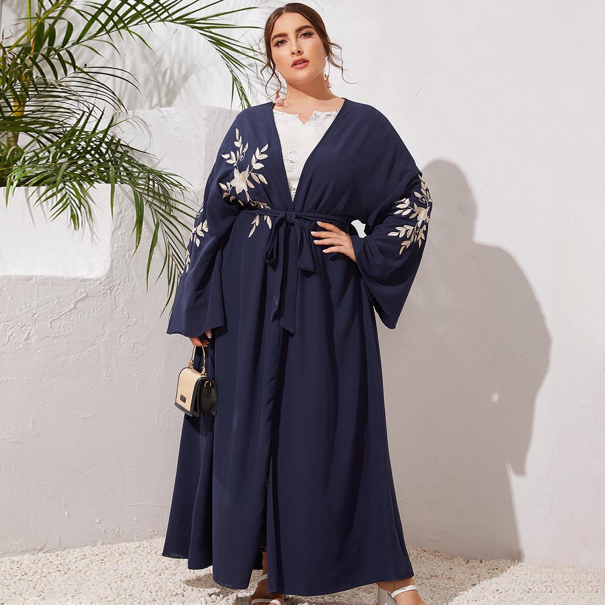 Кимоно размера плюс с поясом фото