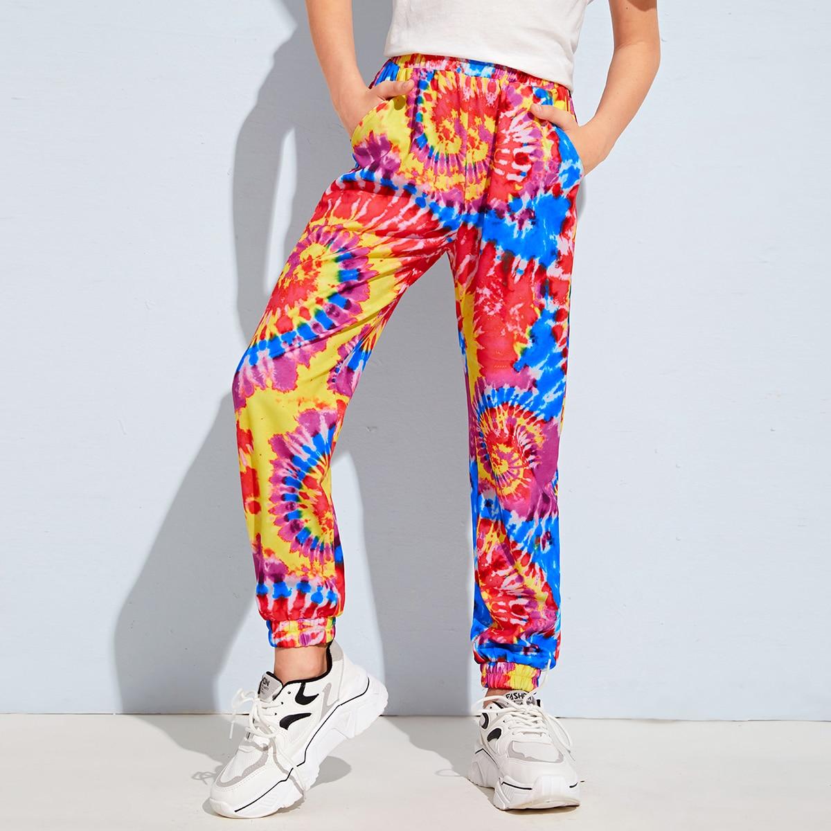 Разноцветные брюки с карманом для мальчиков от SHEIN