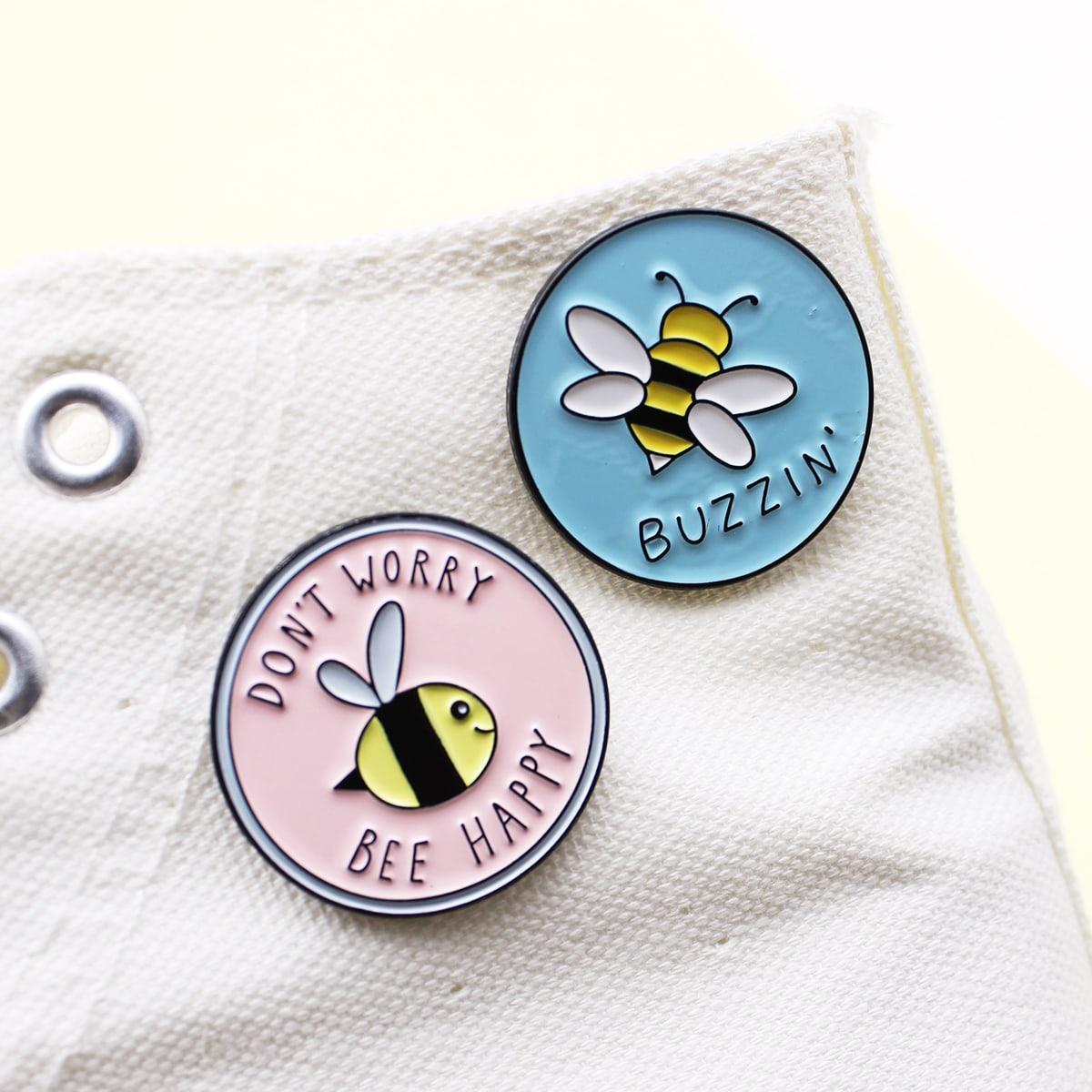 2шт брошь с рисунком пчелы фото