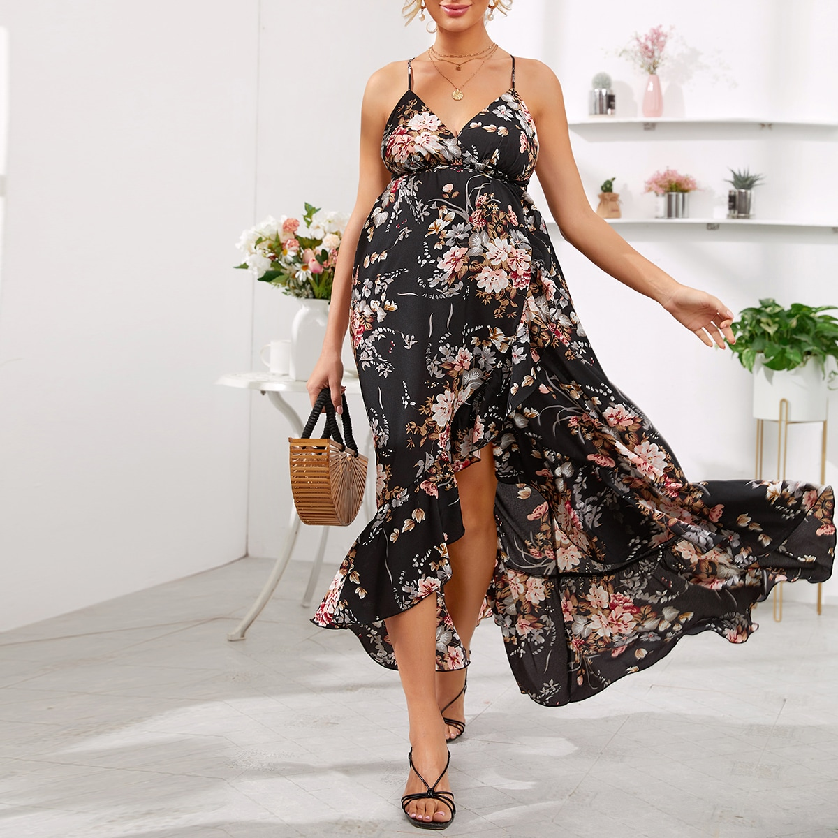 Maternity Платье с ботаническим принтом от SHEIN