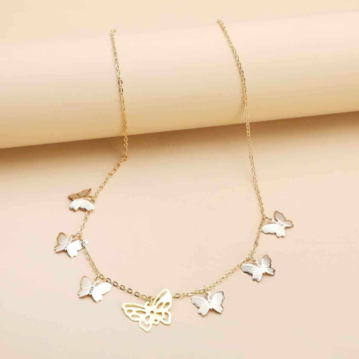 SHEIN / Halsband mit Schmetterling Anhänger