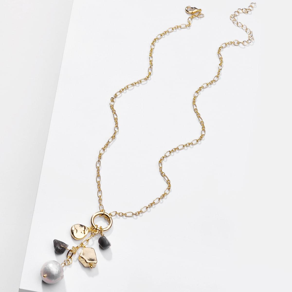 SHEIN / Halskette mit Kunstperlen Dekor
