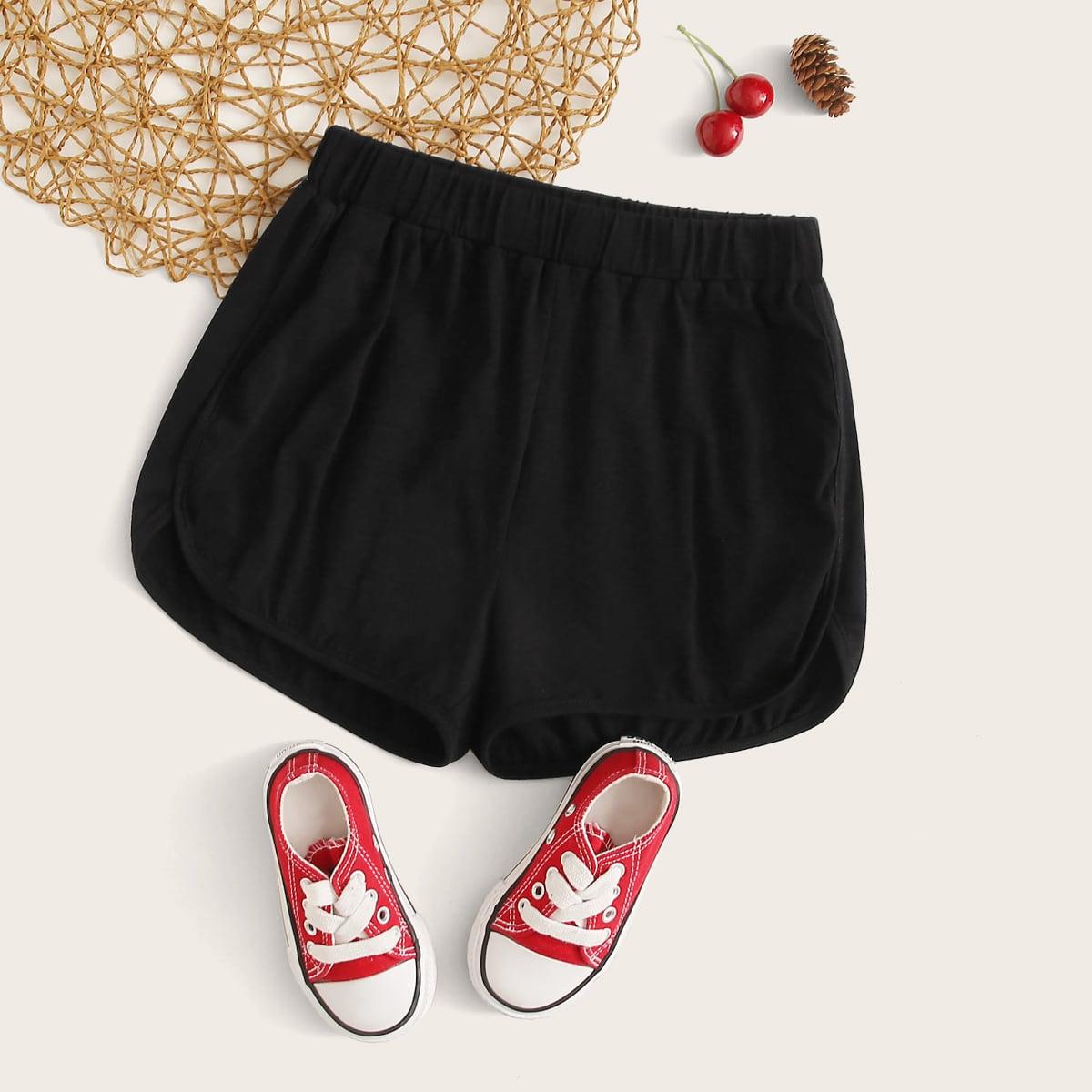 Однотонные шорты для девочек от SHEIN