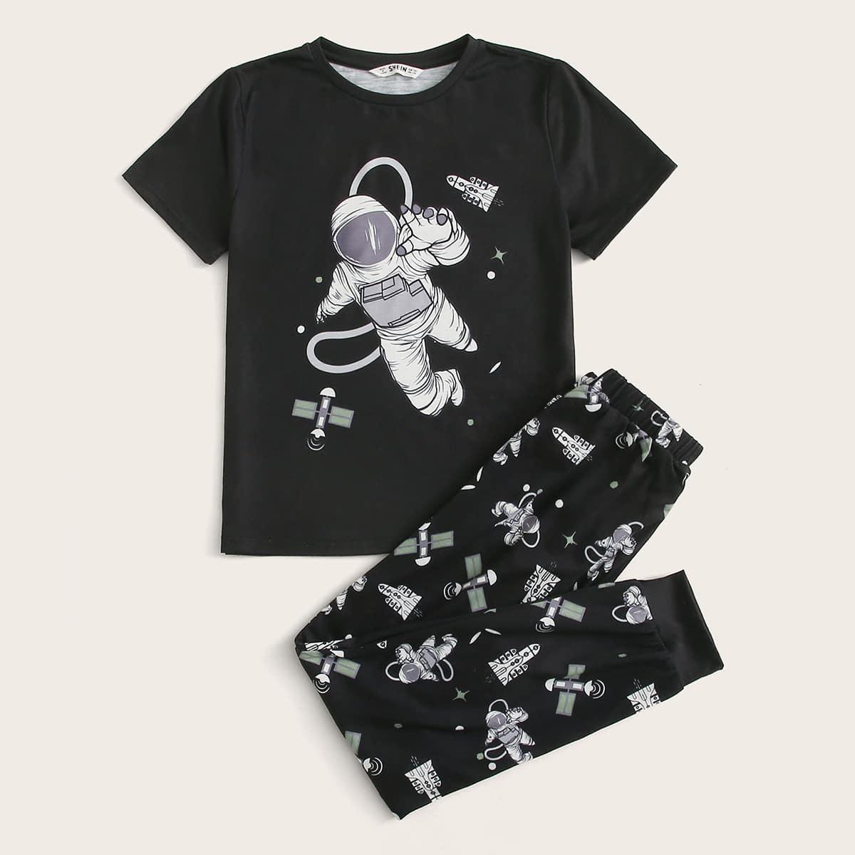 Пижама с графическим принтом для мальчиков от SHEIN