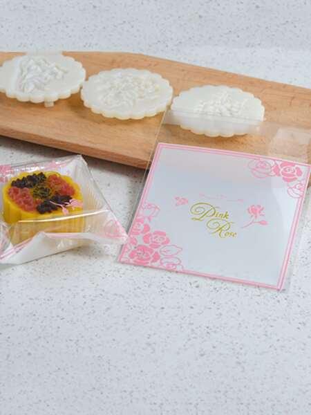 100pcs Flower Print Biscuit Packing Bag