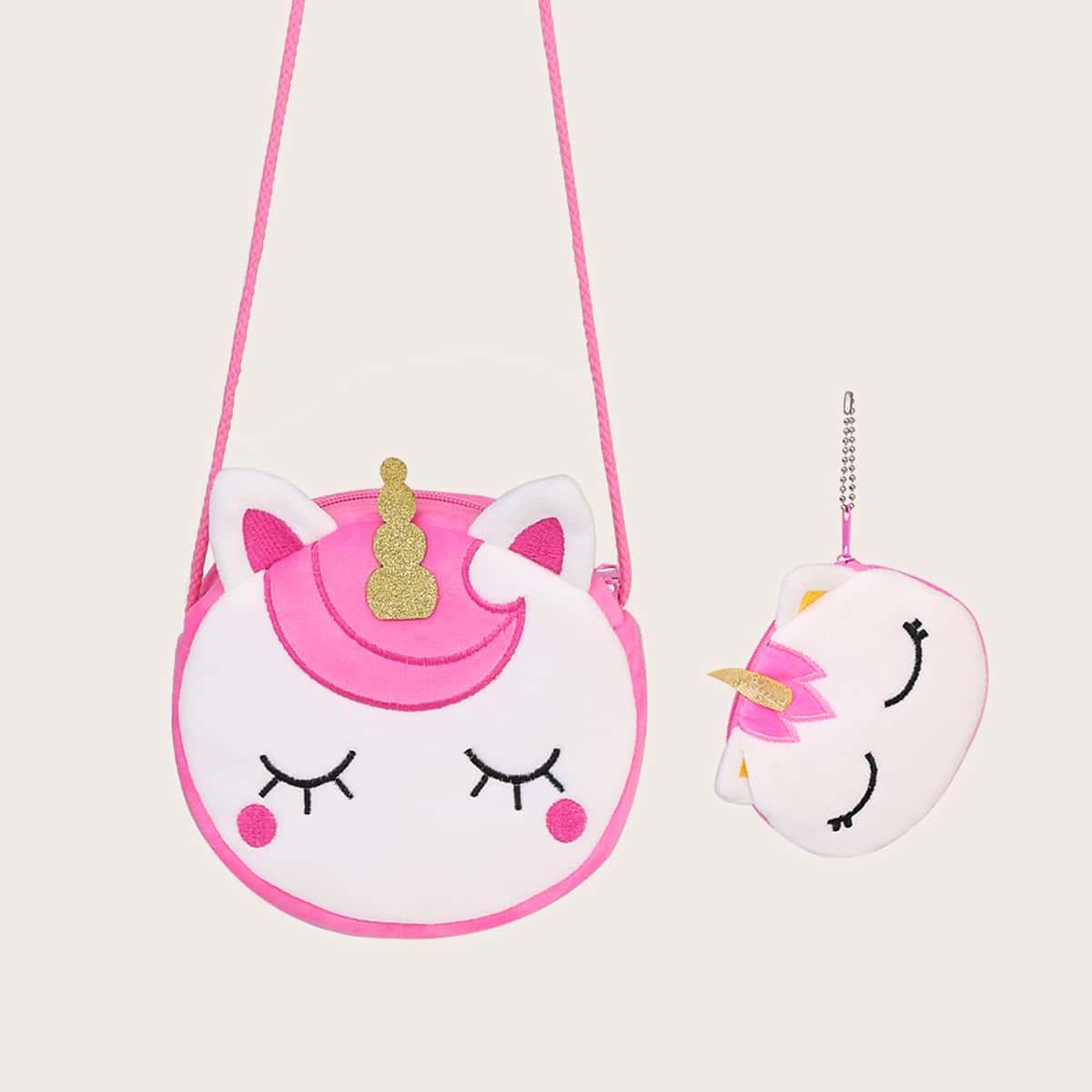 Сумка через плечо с внутренней сумкой для девочек