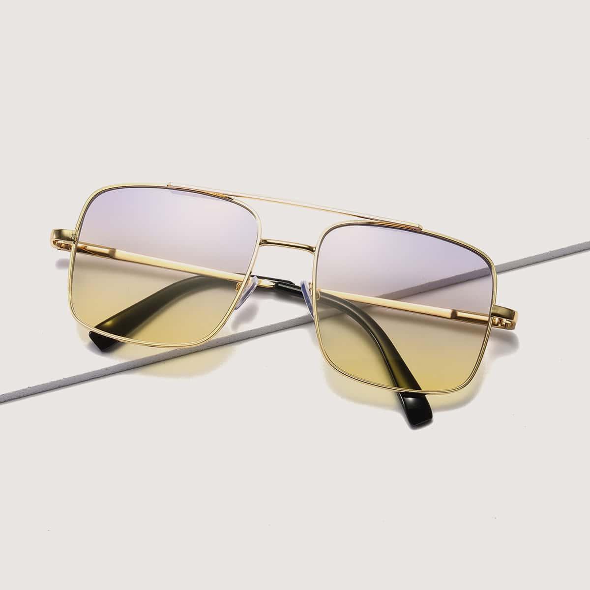 Градиентные солнечные очки с металлической рамкой фото