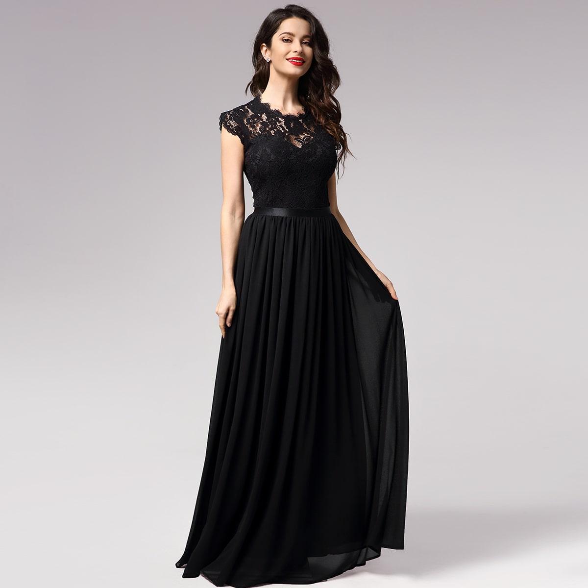 Miusol Цветочное кружевное платье фото