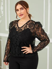 Camisole | Sleeve | Lace | Plus | Top