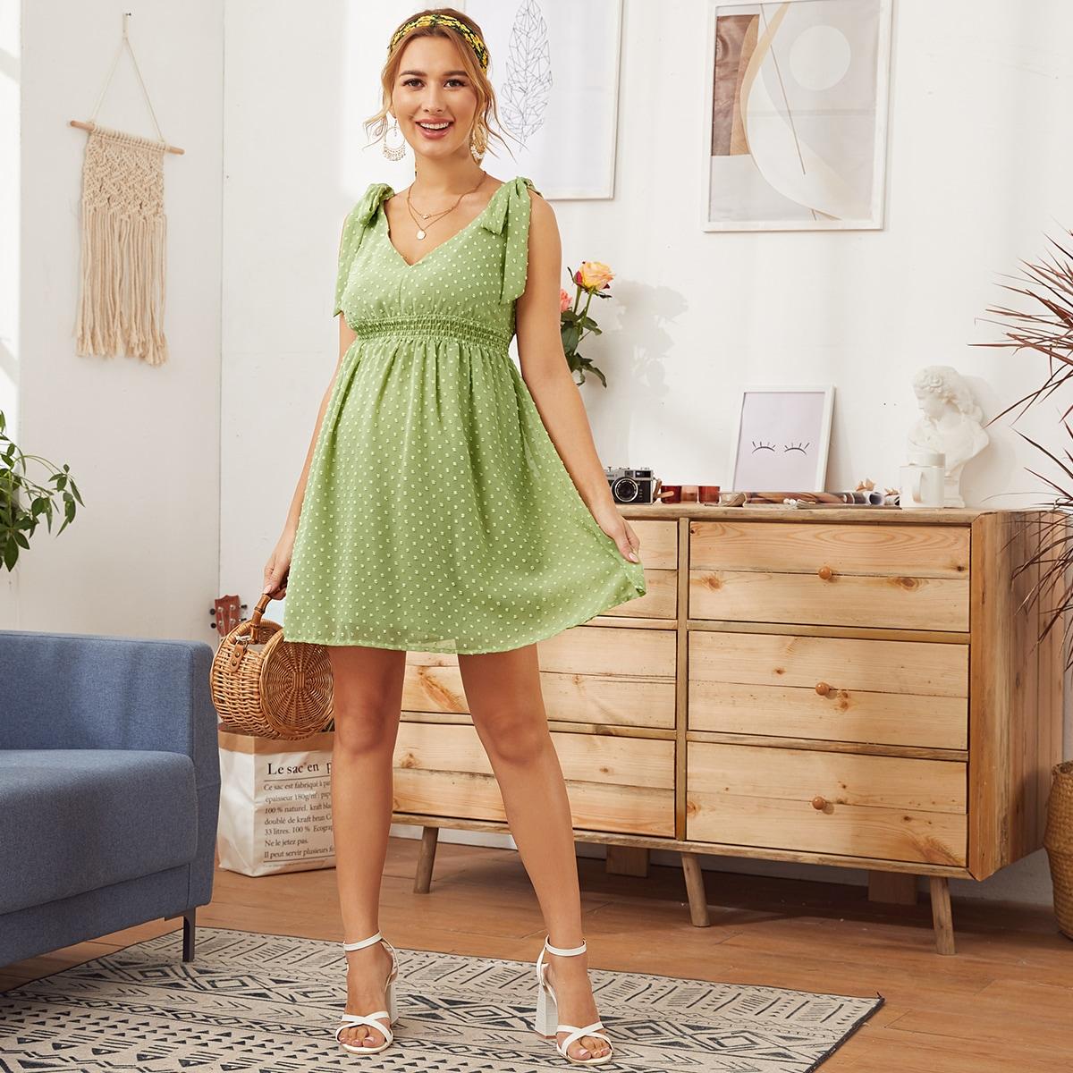 Maternity Платье с узлом на плечах от SHEIN
