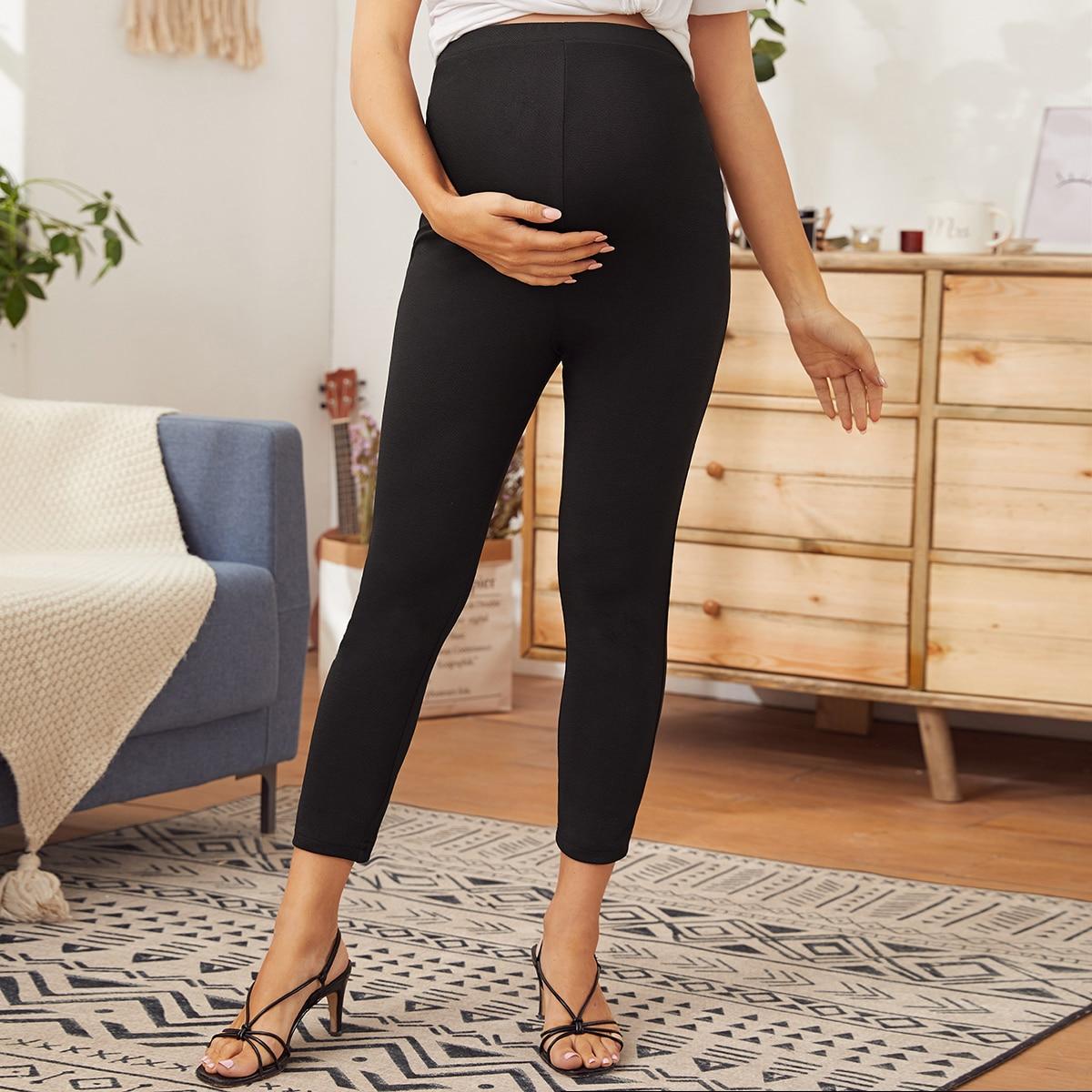 Maternity Однотонные короткие леггинсы от SHEIN