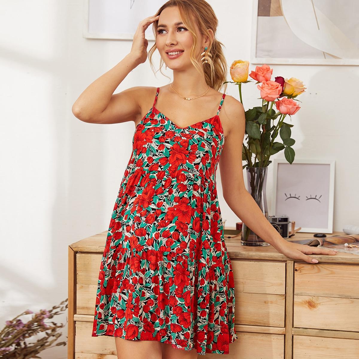 Maternity Платье с цветочным принтом от SHEIN
