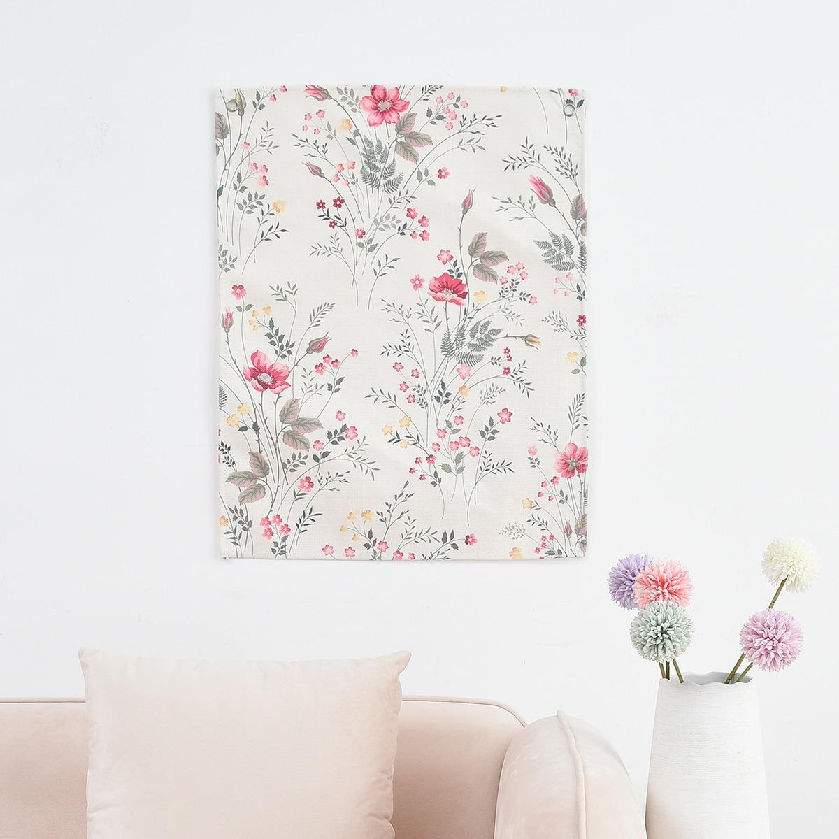 Настенная подвесная ткань с цветочным принтом фото