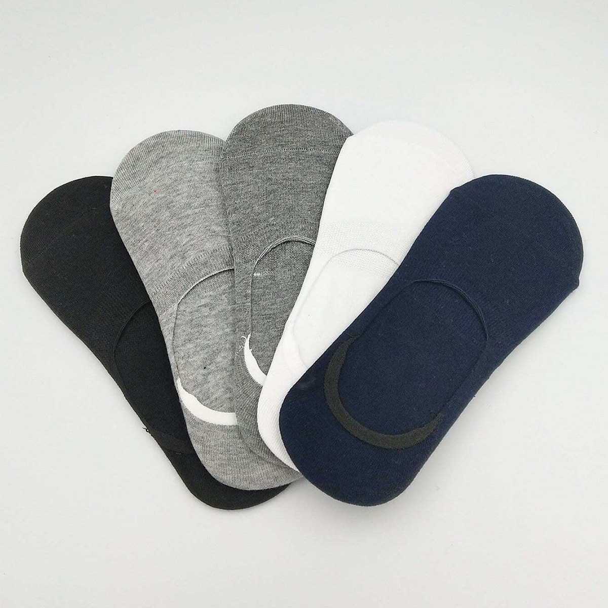 5 пар Мужские простые невидимые носки фото