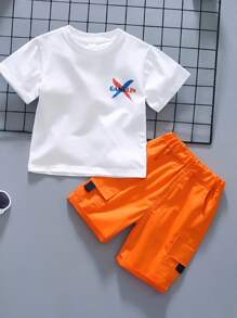 Toddler   Cargo   Short   Flap   Tee