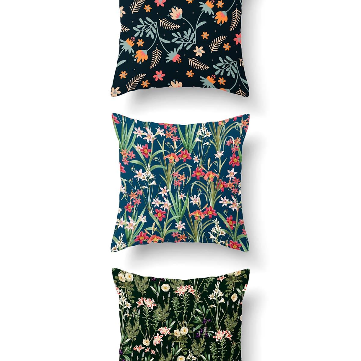 Чехол для подушки с цветочным принтом 1шт фото