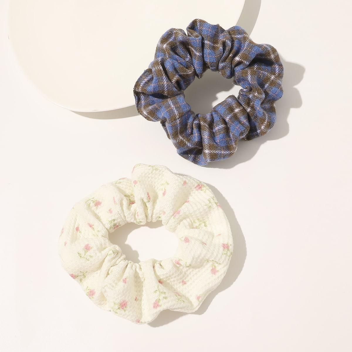 Резинка для волос с цветочным узором фото