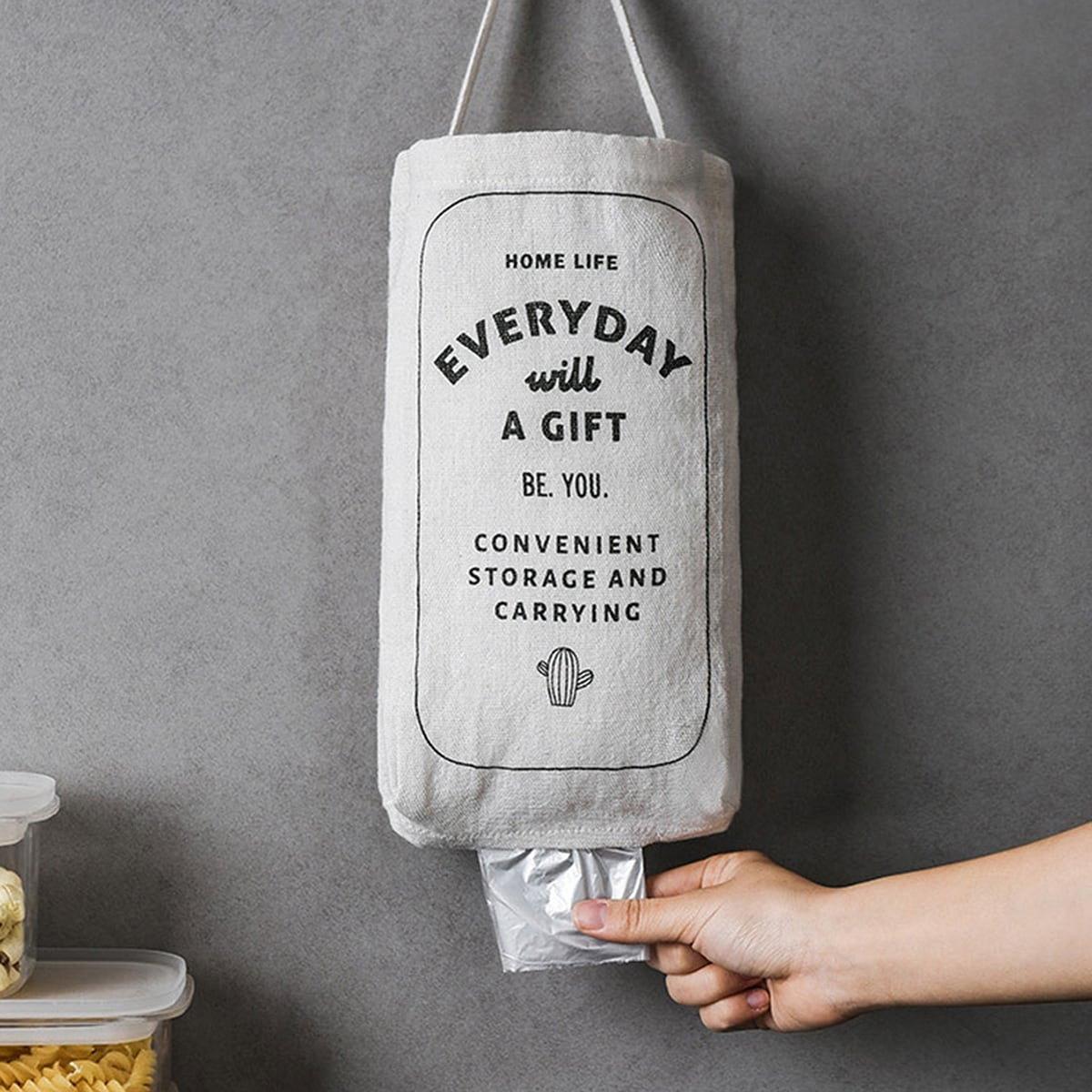 SHEIN / 1pc Garbage Bag Storage Hanging Bag