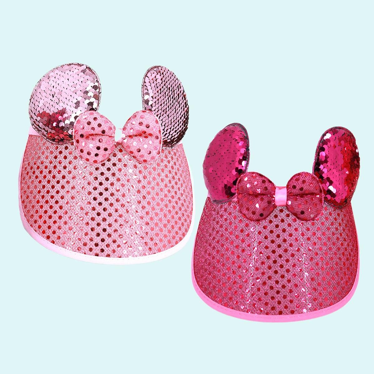 2шт малыша девочки лук лук декора козырек шляпа фото