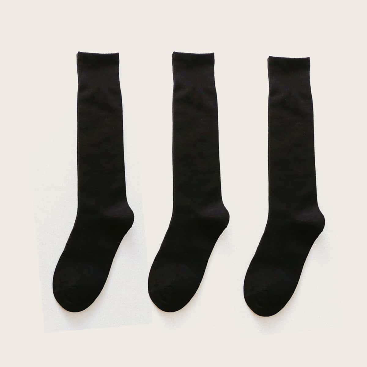 SHEIN / 3 Paare einfache Socken