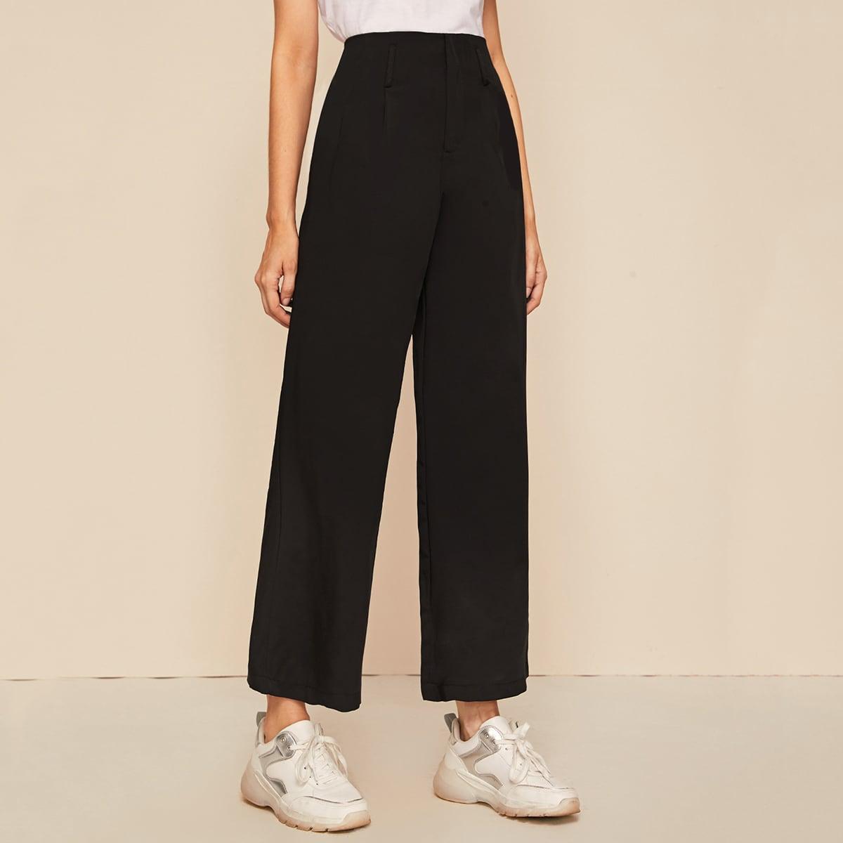 Широкие брюки с карманом фото