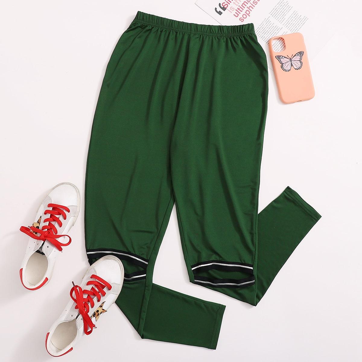 SHEIN / Leggings Cinta A rayas Verde Deportivo