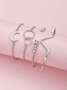Bracelet | Moon | Hoop | Set