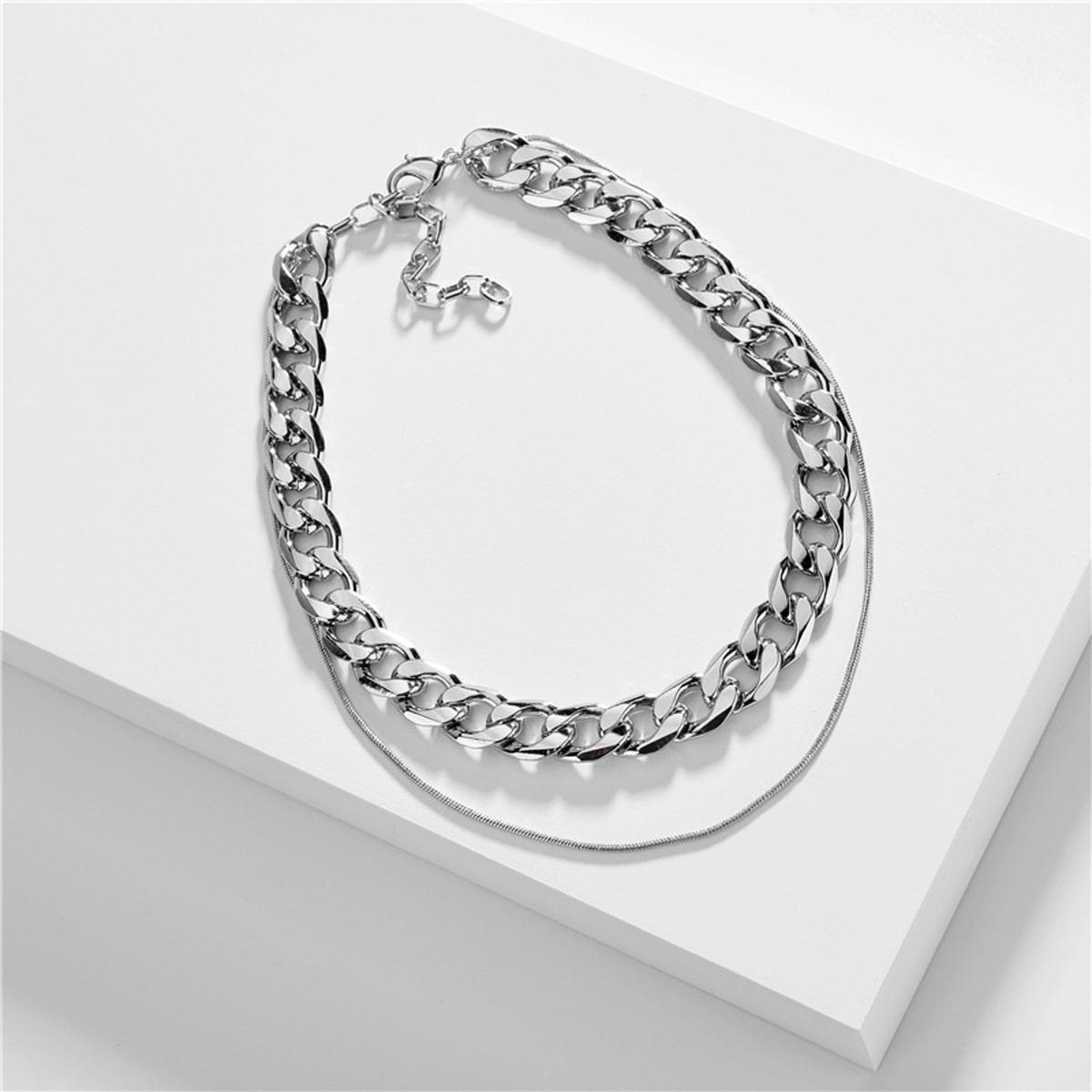 Серебряные Мужские цепочки от SHEIN
