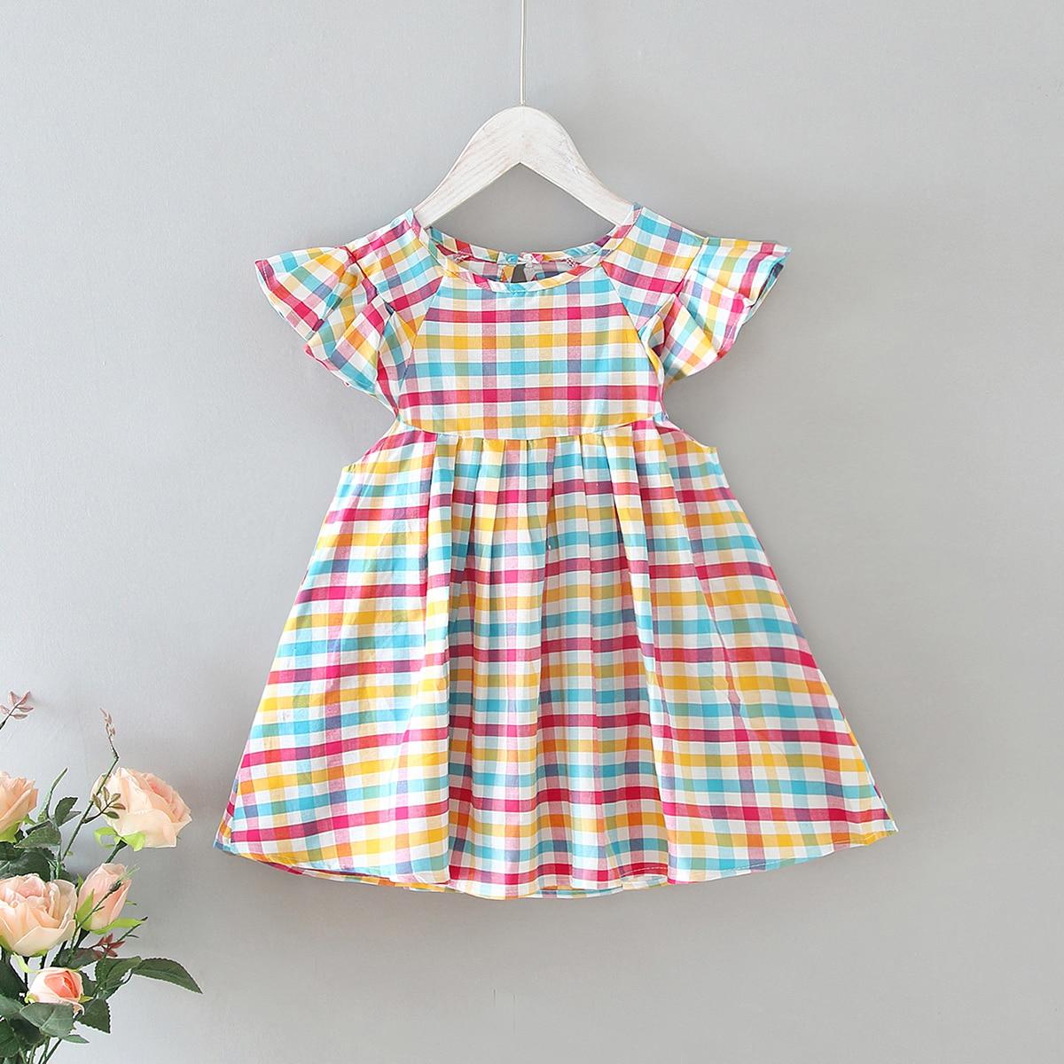 Платье в клетку для девочек