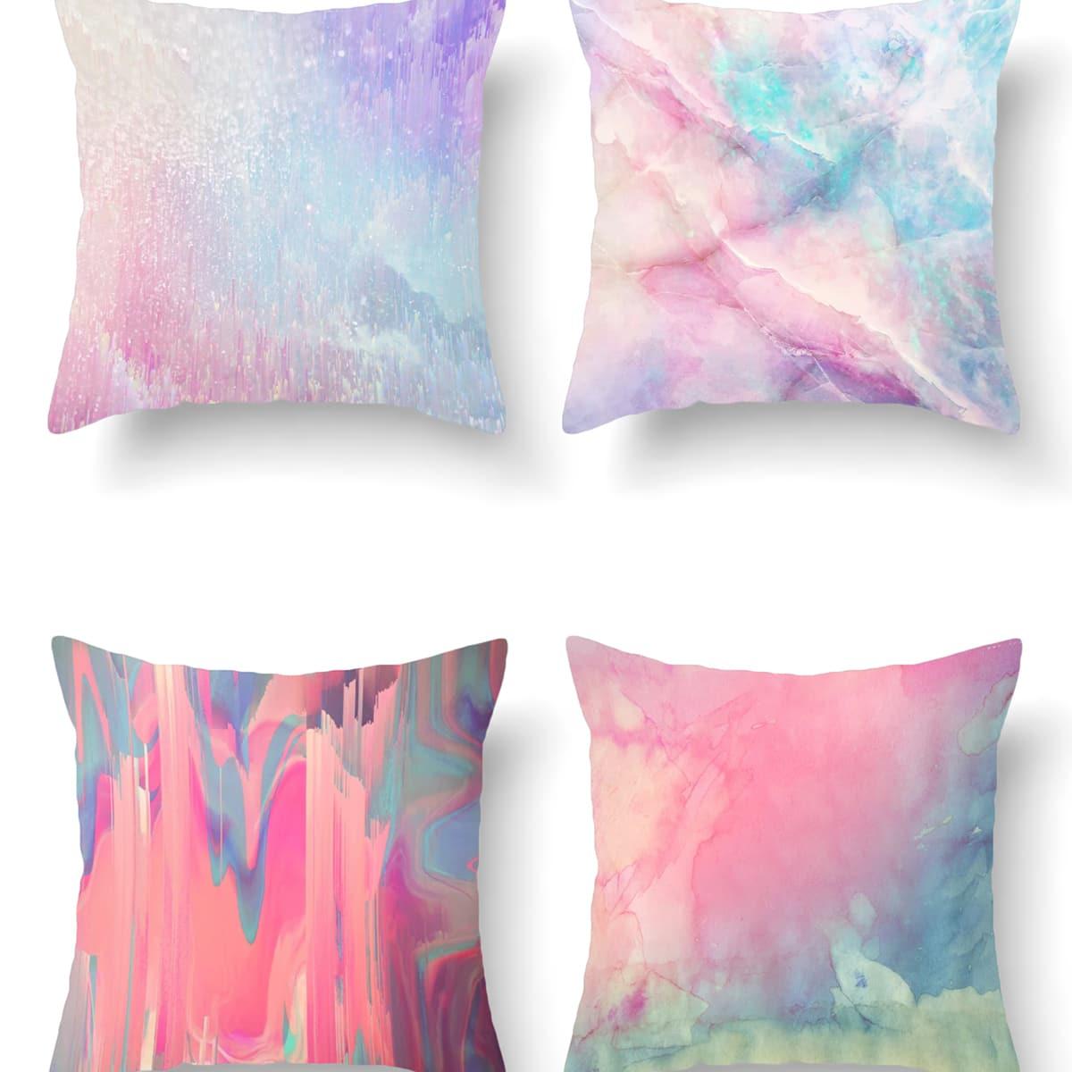 Красочный чехол для подушки без наполнителя фото